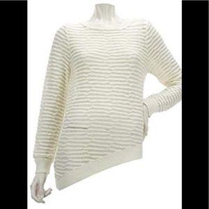 K DASH by Kardashian Asymmetrical Hem Sweater